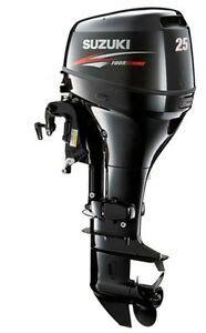 Suzuki 4 Stroke Outboard by 25 Hp Suzuki 4 Stroke Df25el Outboard Motor New Ebay