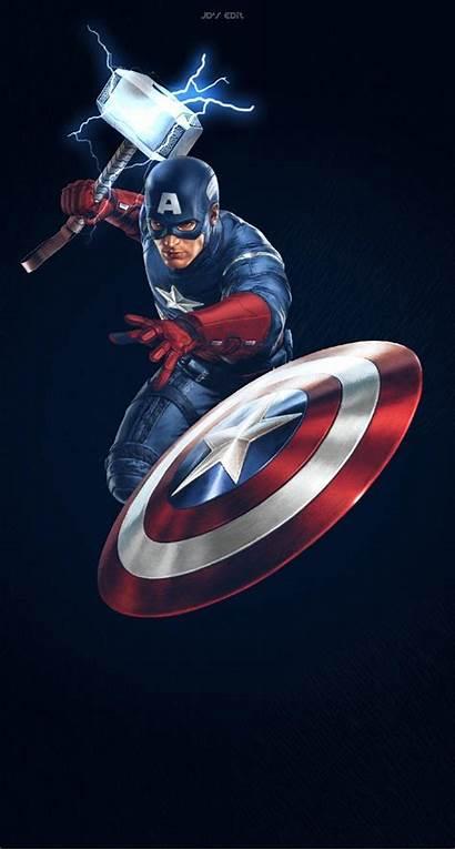 Captain America Marvel Mjolnir Avengers Wallpapers Screen
