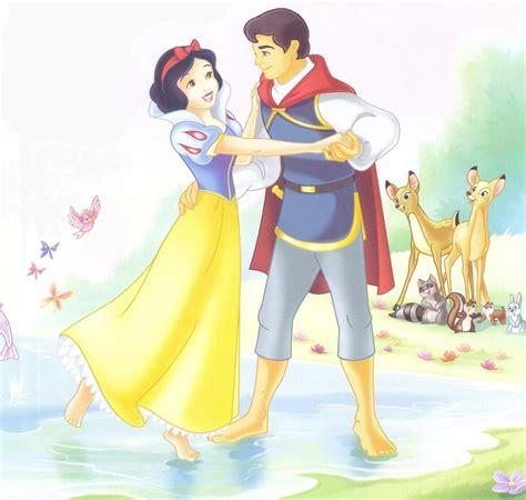 Princess Snow White And Prince Popular Cartoon