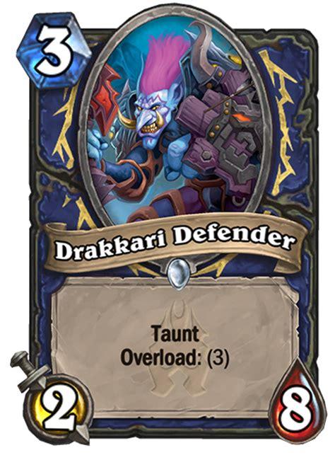 drakkari defender hearthstone card