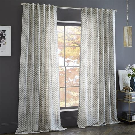 west elm drapes cotton canvas sted dots curtain transitional