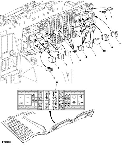 Deere 6400 Fuse Diagram by Deere Fuse Box Location Wiring Diagram