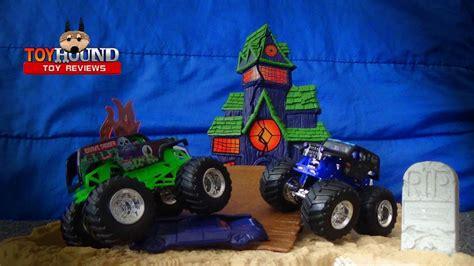 toy monster jam trucks for sale wheels monster jam boneyard bash playset 3 trucks