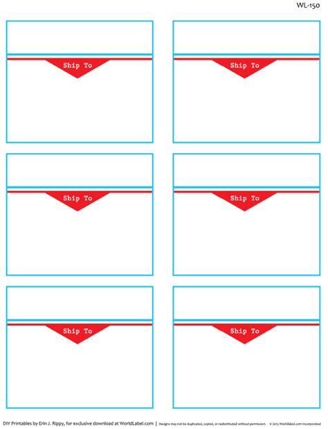 designed shipping label templates