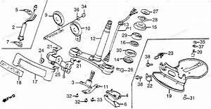 Honda Motorcycle 1985 Oem Parts Diagram For Steering Stem