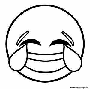Print emoji laughing face with tears of joy coloring pages ...