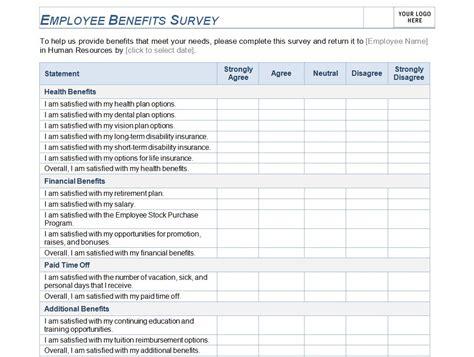 employee survey employee benefits survey employee benefit survey