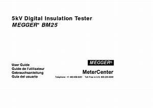 Megger Bm25 5kv Digital Insulation Tester User Guide