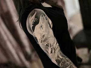 Signification Animaux Tatouage : 1001 mod les de tatouage loup pour femmes et hommes ~ Dode.kayakingforconservation.com Idées de Décoration