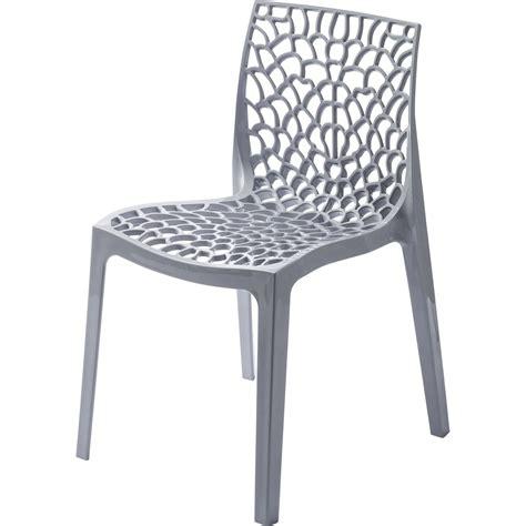 chaise de jardin leroy merlin chaise de jardin en résine grafik gris perle leroy merlin