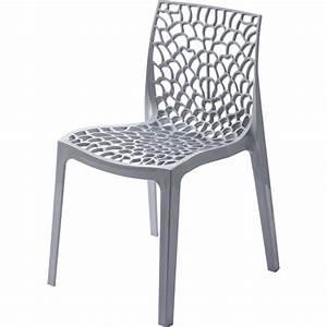 Chaise de jardin en resine grafik gris perle leroy merlin for Leroy merlin chaise jardin