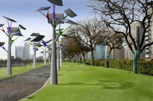 solar trees during the day to illuminate the future technology