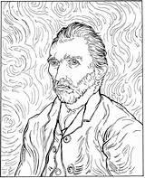 Coloring Van Gogh Self Portrait Picasso Famous Pablo sketch template