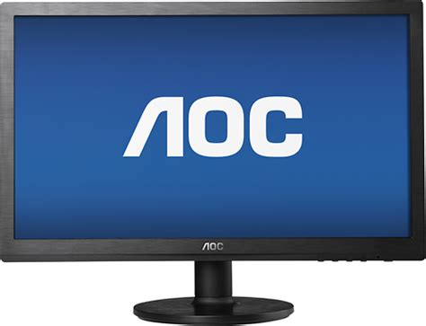 "AOC 24"" LED HD Monitor Black E2460SD  Best Buy"