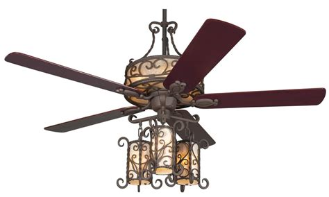 ceiling fan in spanish seville light kit ceiling fan spanish influenced rustic