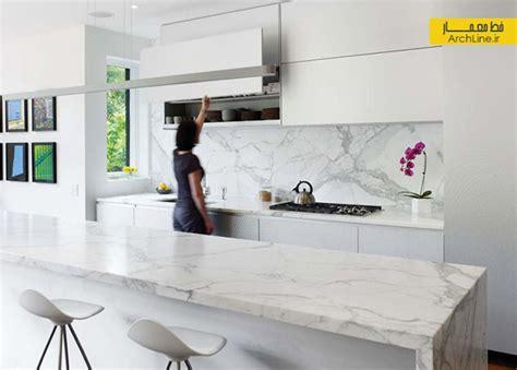 white marble floor kitchen دکوراسیون آشپزخانه مدرن متریال ها و طرح های متنوع برای 1434