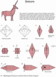Einhorn Basteln Papier : bird mony how to fold an origami unicorn papier pinterest origami origami anleitungen ~ Markanthonyermac.com Haus und Dekorationen