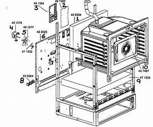 Oven Cavity Frame Diagram  U0026 Parts List For Model Hes255u