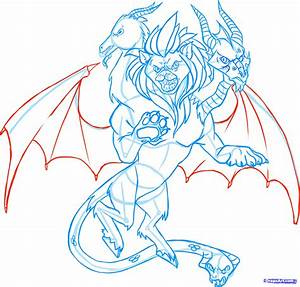 How to Draw a Chimera, Draw Chimeras, Step by Step ...