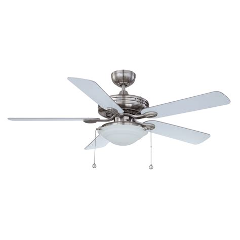 52 inch white ceiling fan shop kendal lighting builder 39 s choice 52 in satin nickel