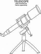 Telescope Coloring Getdrawings sketch template