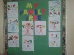 family theme i use a tree trunk template and my preschoolers tell me who is in their family