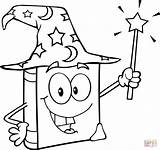 Magic Wand Coloring Wizard Pages Holding Drawing Printable sketch template