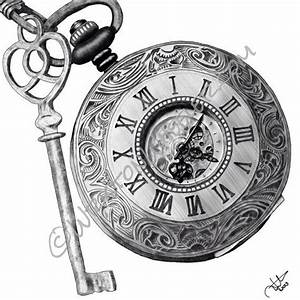 Top 25 ideas about Pocket Watch Drawing on Pinterest ...