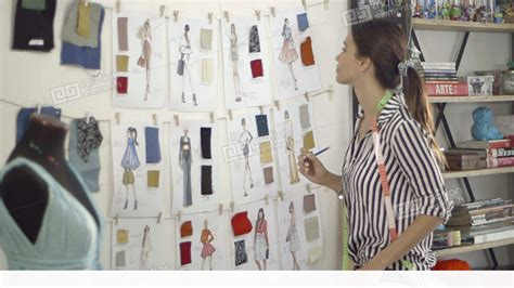 fashion designer  home studio stock video footage