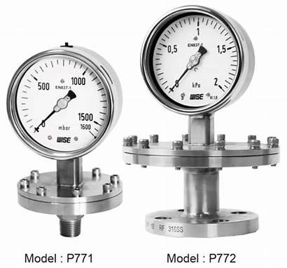 Diaphragm Pressure Gauge Dry Wise P770 P772