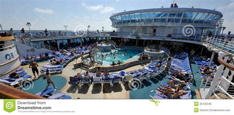 Boat Graphics Poole by Pool Cruise Ship Crown Princess Editorial Stock Photo