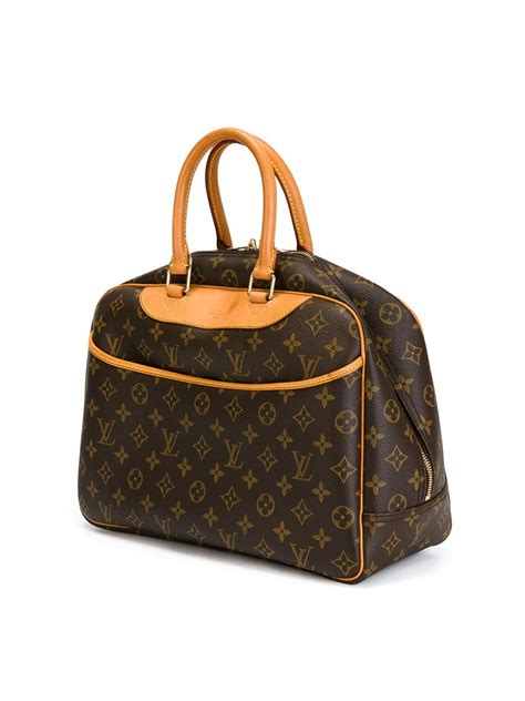 louis vuitton deauville luggage bag  brown lyst