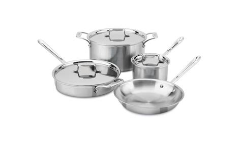 cookware induction brushed clad d5 stainless piece