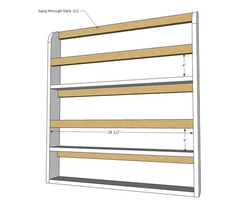 ana white wooden plate rack plans diy projects