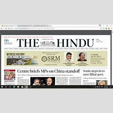 How To Download The Hindu Newspaper For Free !!! Youtube