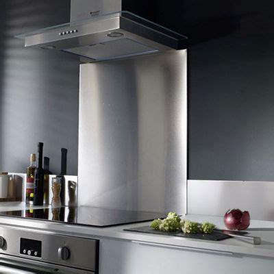 plaque inox brossé pour cuisine crédence inox castorama