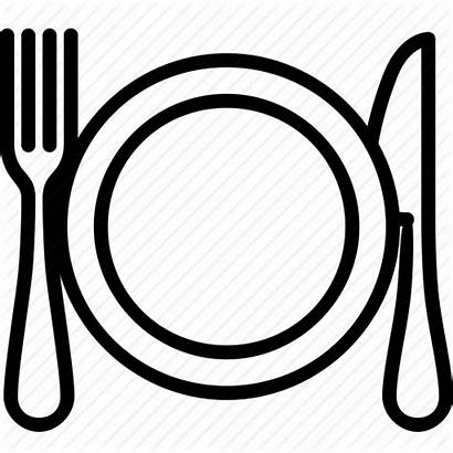 Plate Dinner Icon Dishes Cutlery Cooking Drawing