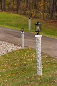 Granite, Lamp, Posts, Light, The, Driveway