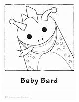 Coloring Baby Bard Einstein Pages Printable Template Library Clipart sketch template