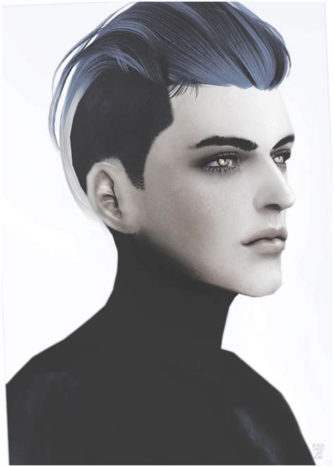 sims  hairs black le newseas  hairstyle converted
