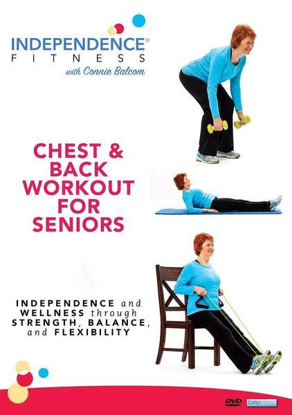 seniors chest workout fitness independence exercise workouts dvds