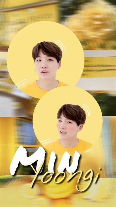 Suga Aesthetic Yoongi Bts Min Wallpapers Yellow
