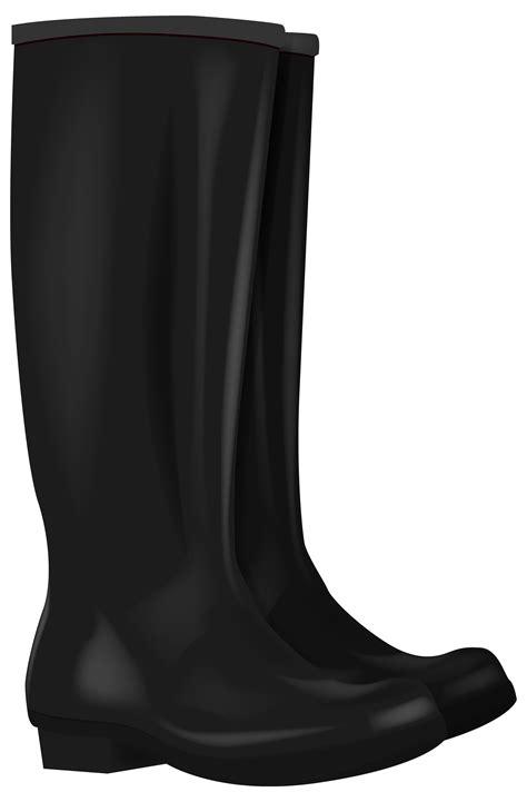 Black Rubber Boots PNG Clipart - Best WEB Clipart