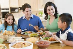 ... family eating together is not just being together but sharing life Eating for Life