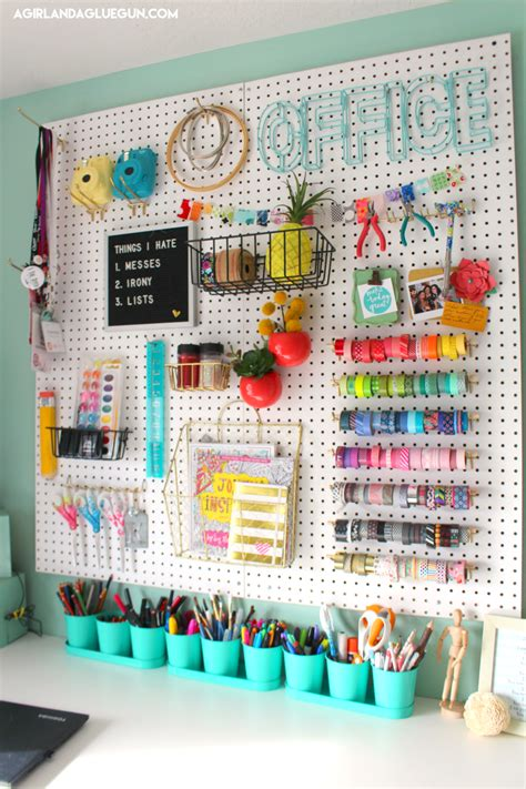 Over 30 Ways To Organize With A Peg Board  A Girl And A