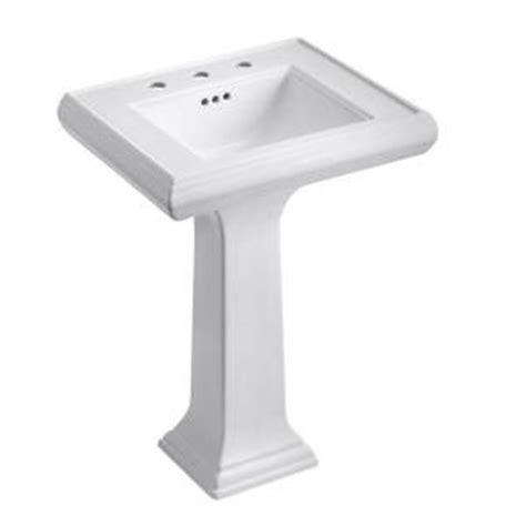 kohler kitchen sink drain kohler memoirs ceramic pedestal combo bathroom sink with 6689