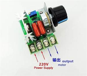 4000w 220v Ac Scr Voltage Regulator Dimmer Electric Motor