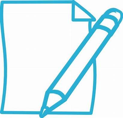 Pencil Paper Clip Clipart Plan Cliparts Statement