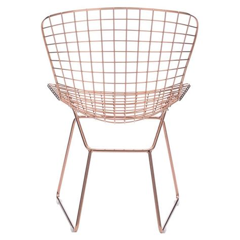 wire dining chair gold dcg stores