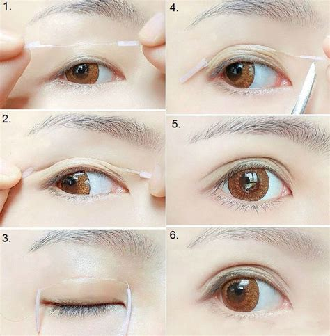 create bigger eyes  double eyelid trick bigger eyes double eyelid asian eye makeup